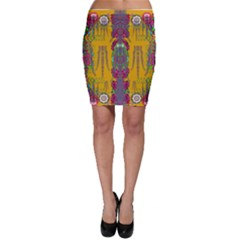 Rainy Day To Cherish  In The Eyes Of The Beholder Bodycon Skirt by pepitasart