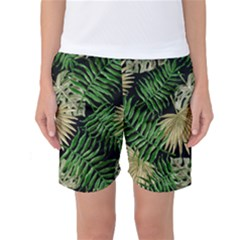Tropical Pattern Women s Basketball Shorts by ValentinaDesign