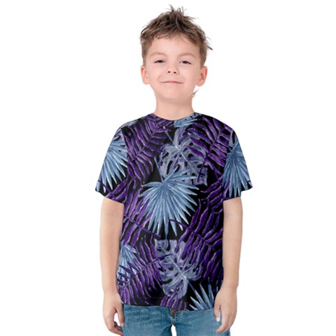 Tropical Pattern Kids  Cotton Tee by ValentinaDesign