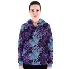 Tropical Pattern Women s Zipper Hoodie by ValentinaDesign