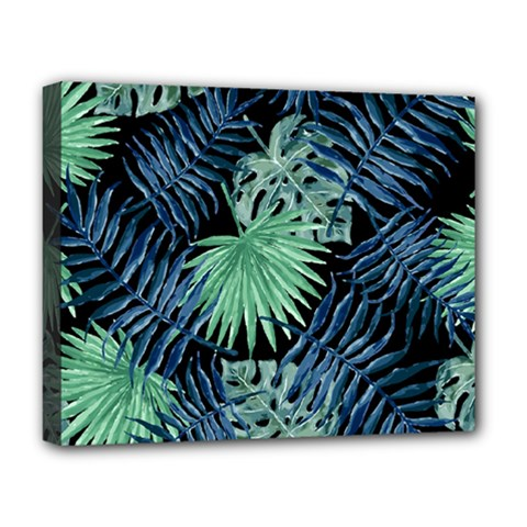 Tropical Pattern Deluxe Canvas 20  X 16   by ValentinaDesign