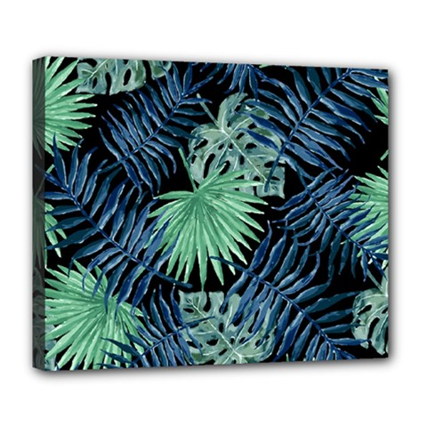 Tropical Pattern Deluxe Canvas 24  X 20   by ValentinaDesign