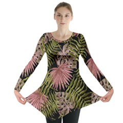 Tropical Pattern Long Sleeve Tunic  by ValentinaDesign