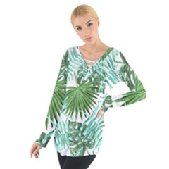 Tropical Pattern Tie Up Tee by ValentinaDesign