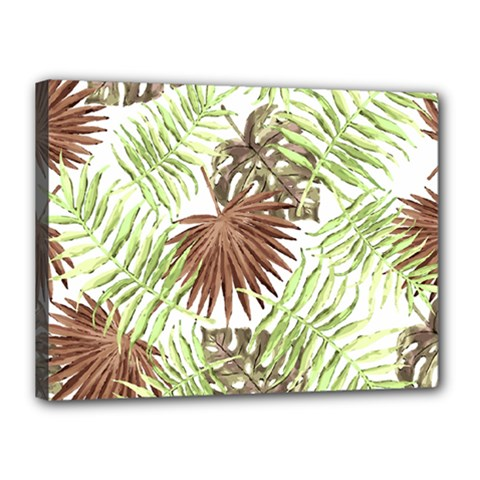 Tropical Pattern Canvas 16  X 12  by ValentinaDesign