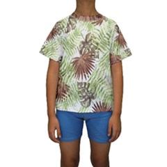 Tropical Pattern Kids  Short Sleeve Swimwear by ValentinaDesign