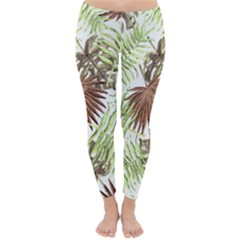 Tropical Pattern Classic Winter Leggings by ValentinaDesign
