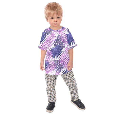 Tropical Pattern Kids Raglan Tee by ValentinaDesign