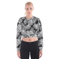 Tropical Pattern Cropped Sweatshirt by ValentinaDesign