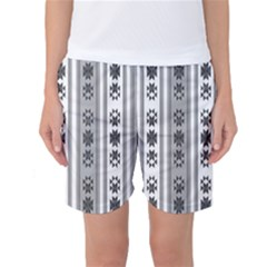 Folklore Pattern Women s Basketball Shorts by ValentinaDesign