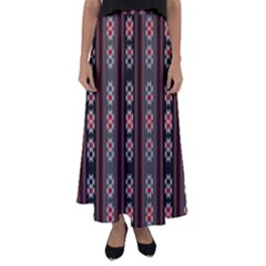Folklore Pattern Flared Maxi Skirt by ValentinaDesign