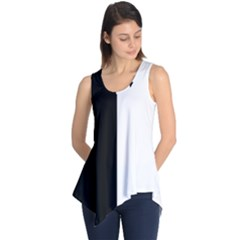 Black And White Sleeveless Tunic