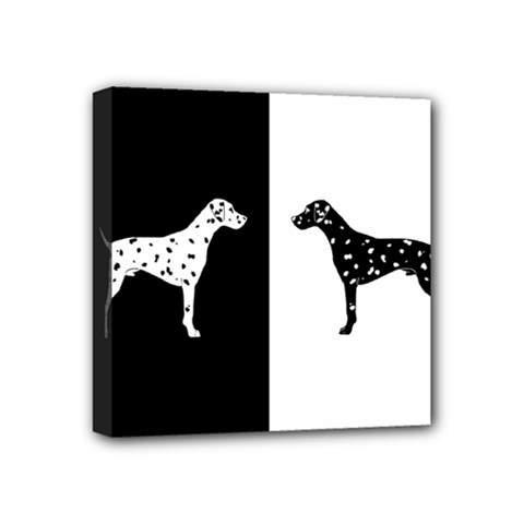 Dalmatian Dog Mini Canvas 4  X 4  by Valentinaart