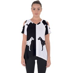 Dalmatian Dog Cut Out Side Drop Tee