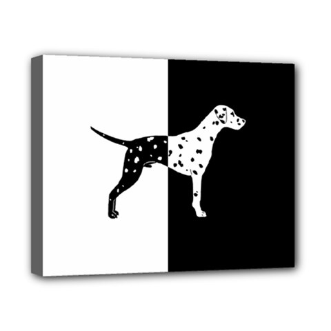 Dalmatian Dog Canvas 10  X 8  by Valentinaart