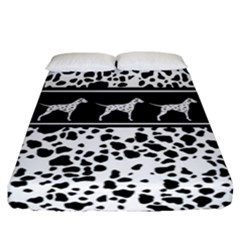Dalmatian Dog Fitted Sheet (california King Size)
