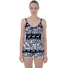 Dalmatian Dog Tie Front Two Piece Tankini