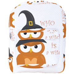 Halloween Orange Witch Owl Full Print Backpack by Valentinaart