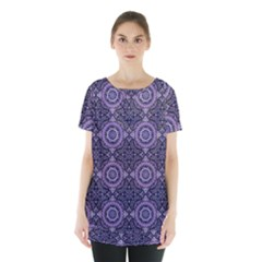 Oriental Pattern Skirt Hem Sports Top