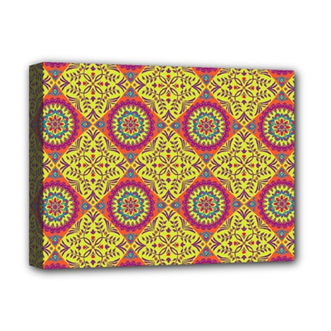 Oriental Pattern Deluxe Canvas 16  X 12   by ValentinaDesign