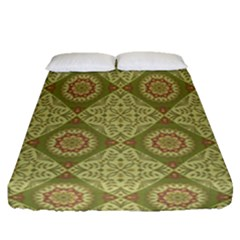 Oriental Pattern Fitted Sheet (queen Size)