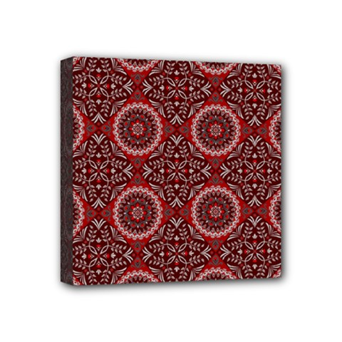 Oriental Pattern Mini Canvas 4  X 4  by ValentinaDesign