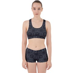 Oriental Pattern Work It Out Sports Bra Set