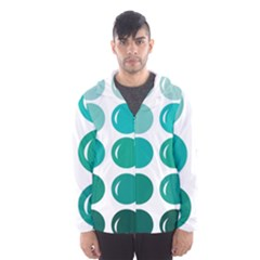 Bubbel Balloon Shades Teal Hooded Wind Breaker (men)