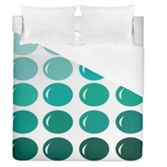 Bubbel Balloon Shades Teal Duvet Cover (queen Size) by Mariart