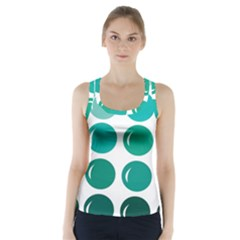 Bubbel Balloon Shades Teal Racer Back Sports Top