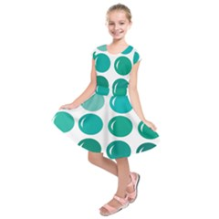 Bubbel Balloon Shades Teal Kids  Short Sleeve Dress by Mariart