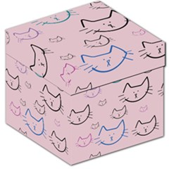 Cat Pattern Face Smile Cute Animals Beauty Storage Stool 12   by Mariart