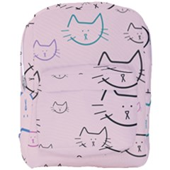 Cat Pattern Face Smile Cute Animals Beauty Full Print Backpack by Mariart