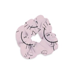 Cat Pattern Face Smile Cute Animals Beauty Velvet Scrunchie by Mariart
