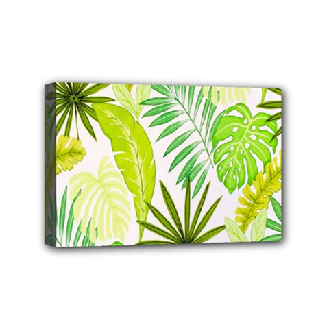 Amazon Forest Natural Green Yellow Leaf Mini Canvas 6  X 4