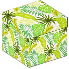 Amazon Forest Natural Green Yellow Leaf Storage Stool 12   by Mariart