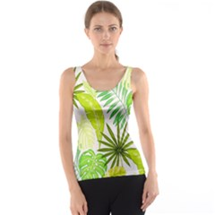 Amazon Forest Natural Green Yellow Leaf Tank Top by Mariart