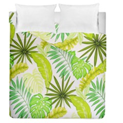 Amazon Forest Natural Green Yellow Leaf Duvet Cover Double Side (queen Size)