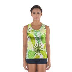 Amazon Forest Natural Green Yellow Leaf Sport Tank Top  by Mariart
