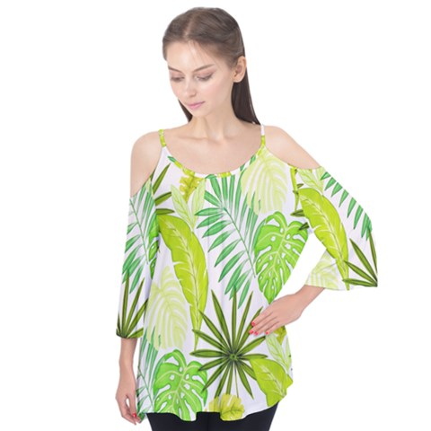 Amazon Forest Natural Green Yellow Leaf Flutter Tees by Mariart