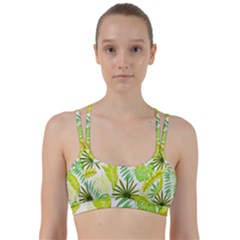 Amazon Forest Natural Green Yellow Leaf Line Them Up Sports Bra by Mariart