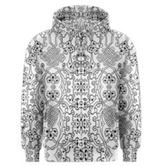 Black Psychedelic Pattern Men s Zipper Hoodie by Mariart