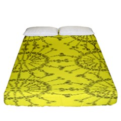 Yellow Flower Floral Circle Sexy Fitted Sheet (california King Size)