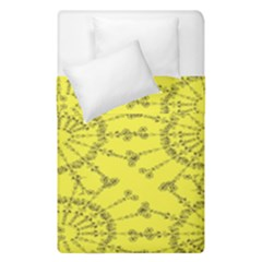 Yellow Flower Floral Circle Sexy Duvet Cover Double Side (single Size) by Mariart