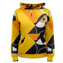 Cute Toucan Bird Cartoon Yellow Black Women s Pullover Hoodie by Mariart