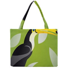 Cute Toucan Bird Cartoon Fly Yellow Green Black Animals Mini Tote Bag by Mariart