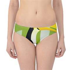 Cute Toucan Bird Cartoon Fly Yellow Green Black Animals Hipster Bikini Bottoms