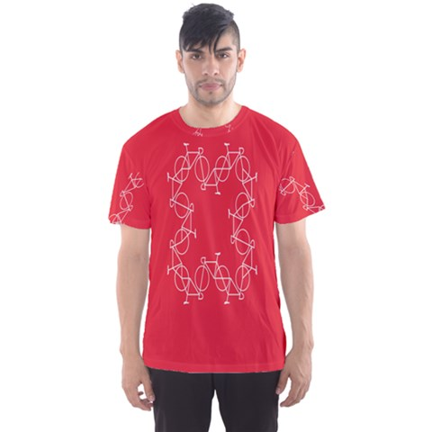 Cycles Bike White Red Sport Men s Sports Mesh Tee by Mariart
