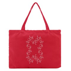 Cycles Bike White Red Sport Zipper Medium Tote Bag by Mariart