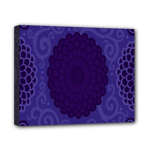 Flower Floral Sunflower Blue Purple Leaf Wave Chevron Beauty Sexy Canvas 10  X 8  by Mariart